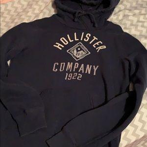 Dark blue Hollister hoodie
